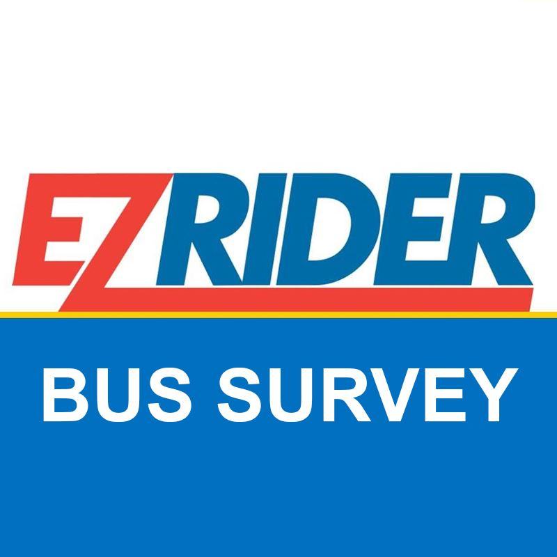 E-Z Rider Bus Transit Icon with a link to a survey