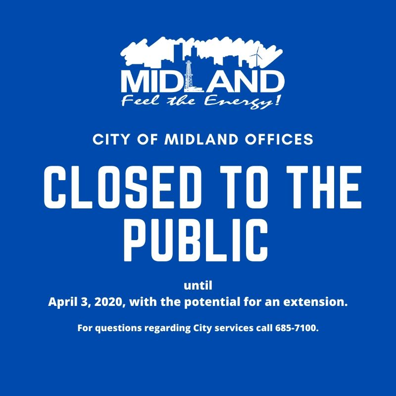 City of Midland Offices Closed to Public